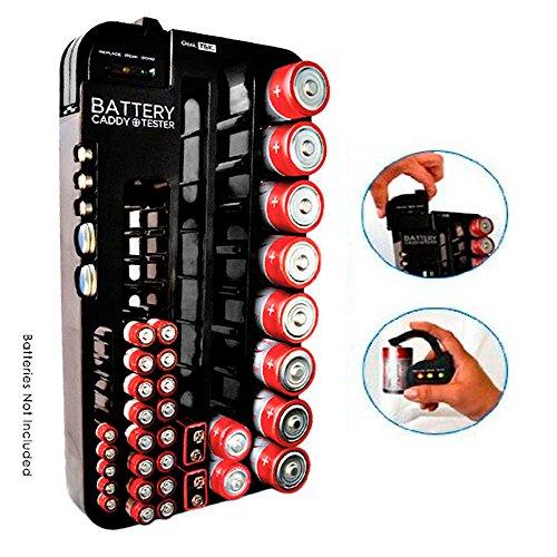 Battery Storage Plastic Organizer Removable