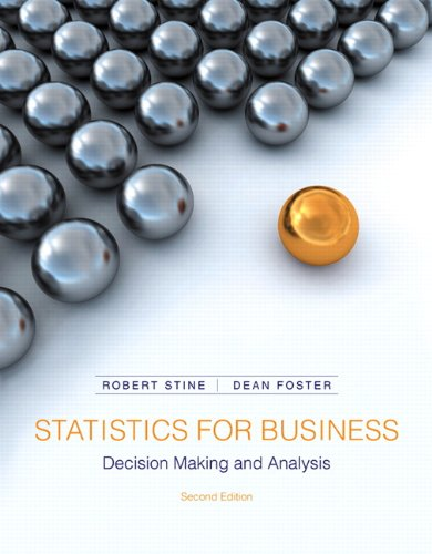 Statistics for Business Decision Making and Analysis 2nd Edition