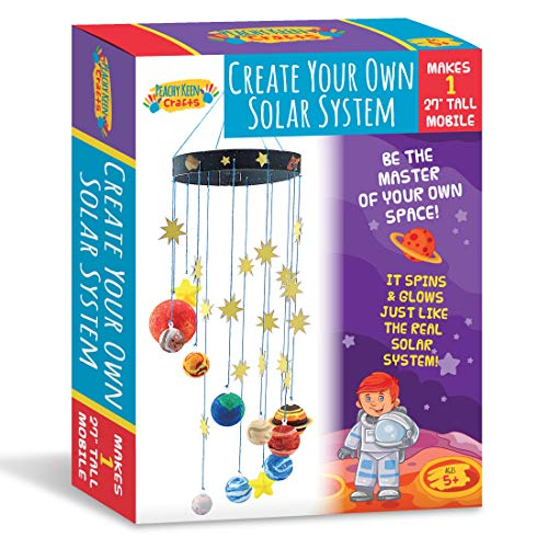 Peachy Keen Crafts DIY Make Your Own Solar System Mobile Kit - Complete Planet Model Set for Kids ()