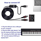 USB IN-OUT MIDI Cable Converter, LiDiVi