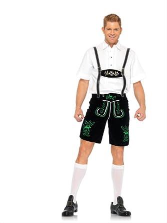 27ba63794c Amazon.com: Leg Avenue Men's German Lederhosen Costume: Clothing