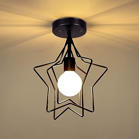 XAJGW E27 Pentagram Cage Style Edison Sospensione Plafoniera ...