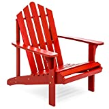 Wooden Patio Chairs Best Choice Products Outdoor Patio Acacia Wooden Adirondack Chair (Red)