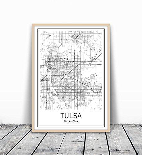 Tulsa Map Print, Tulsa Map, Tulsa Poster, City Map Posters, Tulsa Print, Oklahoma City, Oklahoma Map Art, Map