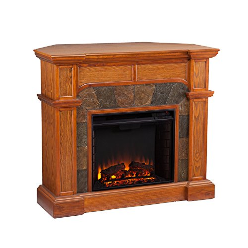 Southern Enterprises Cartwright Corner Electric Fireplace