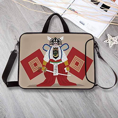 Kabuki Mask Decoration Neoprene Laptop Bag,Kabuki Performer, used for sale  Delivered anywhere in USA