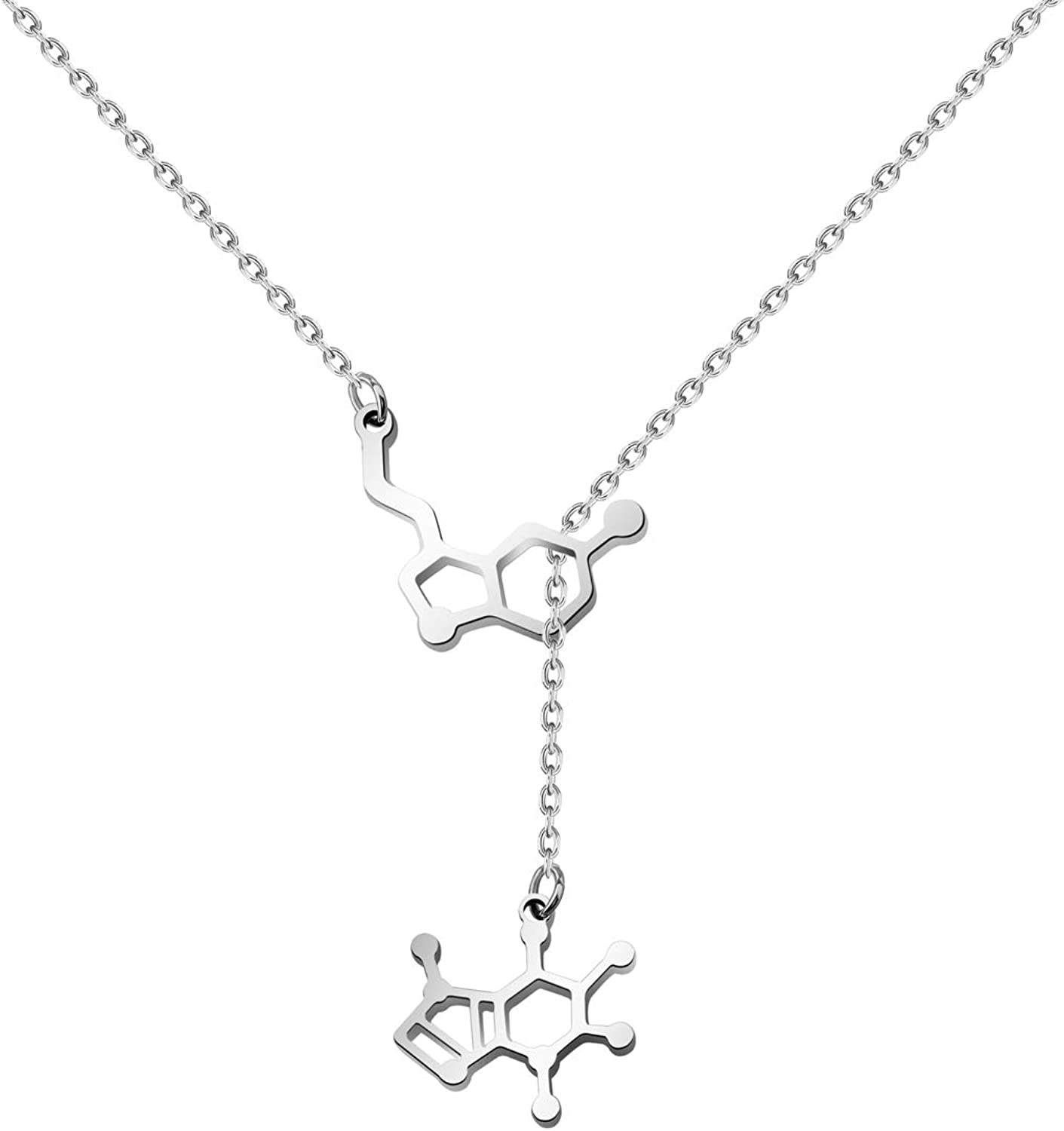 choice of all Caffeine Molecule Earrings Organic Chemistry Jewelry for Science Lovers and Science Major Happiness Neurotransmitter Earrings