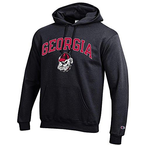 Elite Fan Shop Georgia Bulldogs Hooded Sweatshirt Varsity Black Dawgs - L - Georgia Bulldogs Hoodie Sweatshirt
