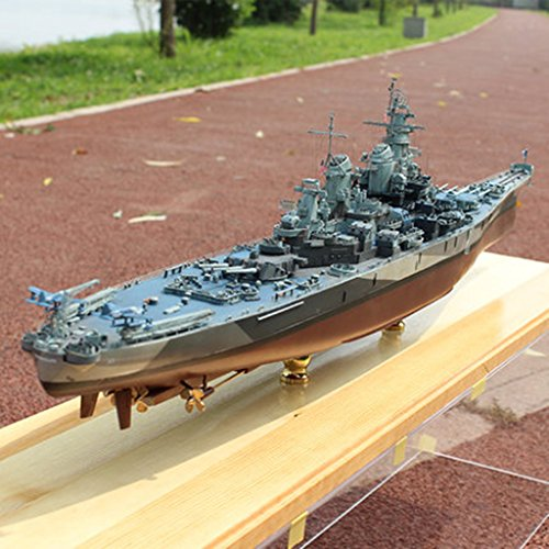 Baoblaze 1:700 Highly Detailed Army Vehicle Warship USS Missouri Battleship Boat Model Kits Kids/Adults Puzzles Set Xmas Gift from Baoblaze