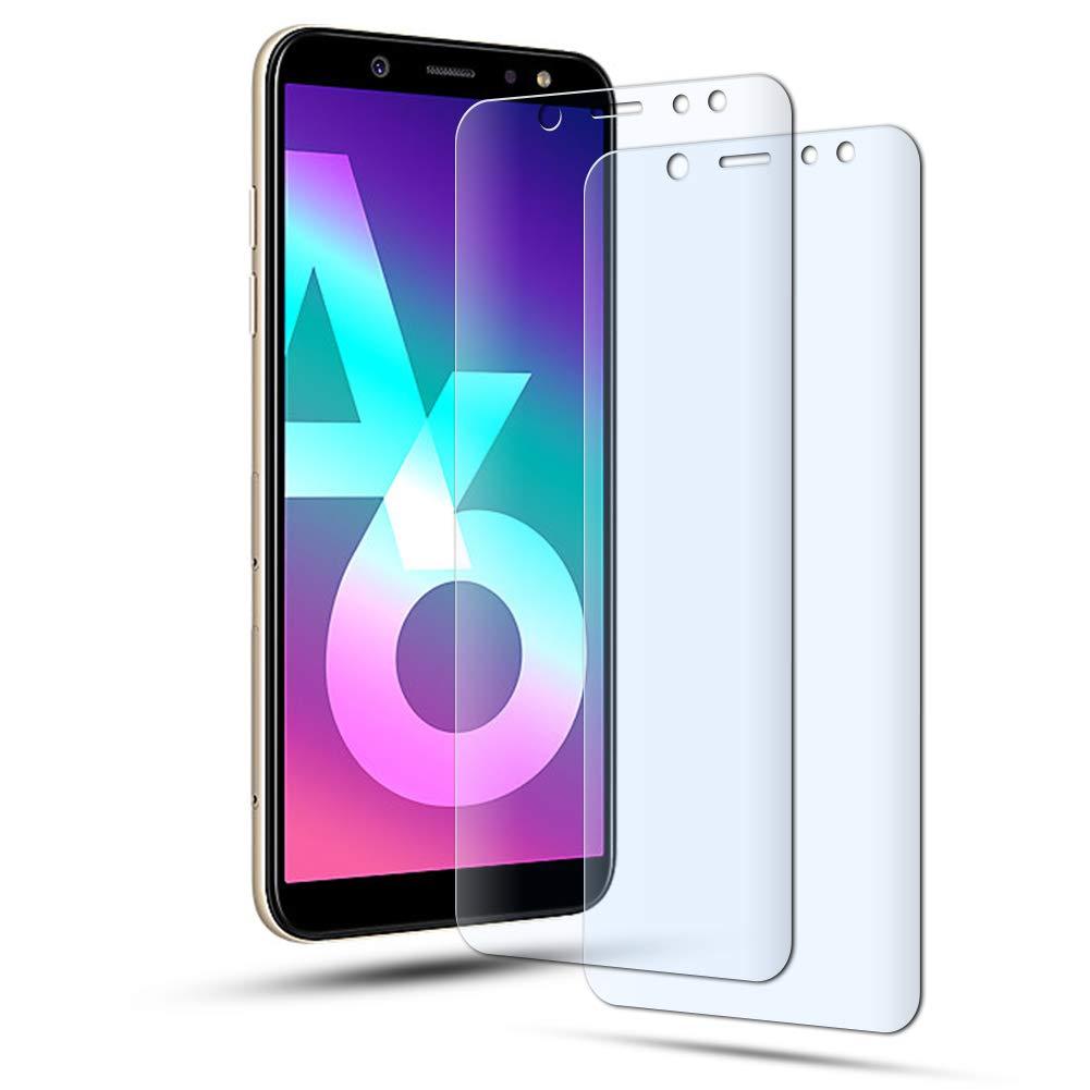 Protector de pantalla AILRINNI para Samsung A6 2018 de 5,6 pulgadas, 2 unidades, vidrio templado, transparente, curvado, 3D, sin burbujas: Amazon.es: ...