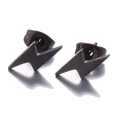Amazon.com: Pendientes de botón de acero inoxidable con ...