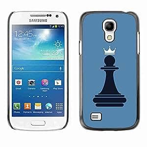 Planetar® ( Chess Pawn Queen ) Fundas Cover Cubre Hard Case Cover Samsung Galaxy S4 MINI / i9190 / i9192