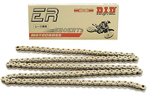 DID 520ERT3-140 Gold 140 Links High Performance Racing Chain with Connecting Link by DID
