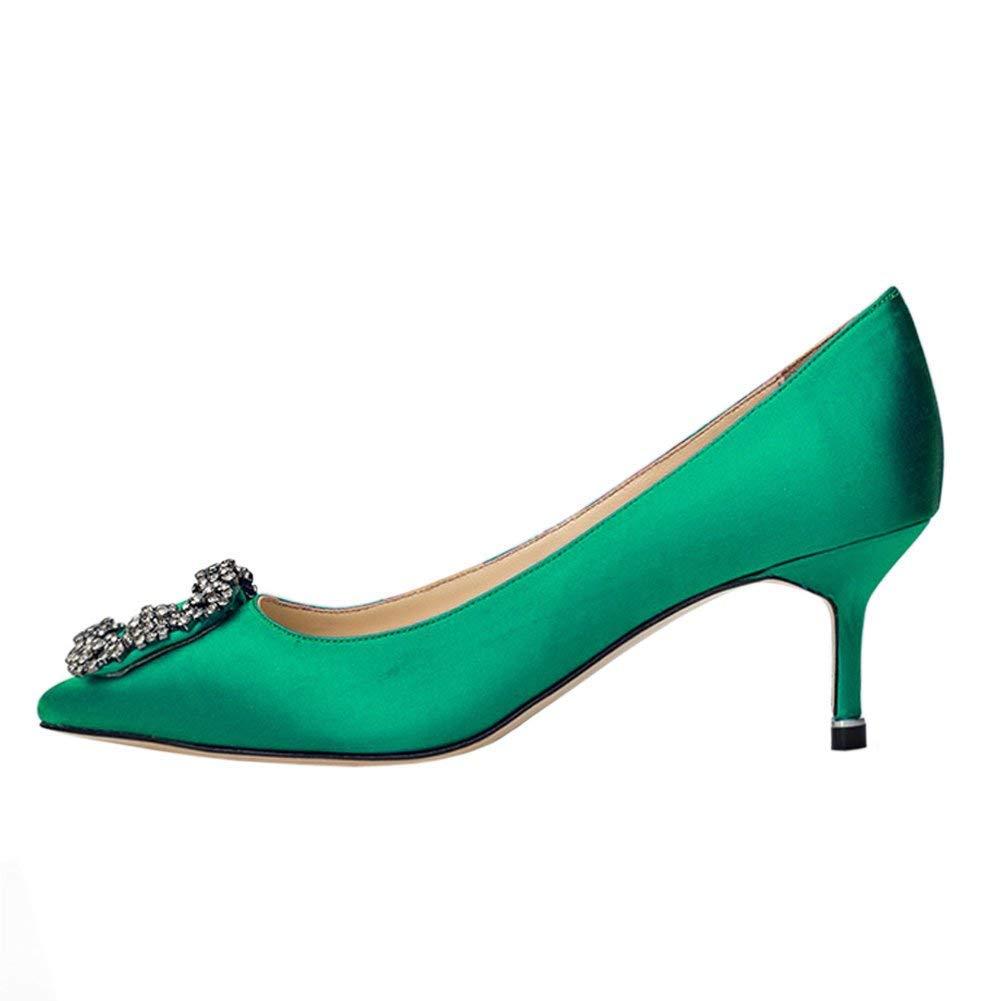 Caitlin Pan Femmes Escarpins Classique Talons B07H81XS8L Hauts Satin 19923 Bout Vert-6.5cm Pointu Diamants Talon Aiguille Chaussures de Robe Vert-6.5cm 8d4d7dd - latesttechnology.space