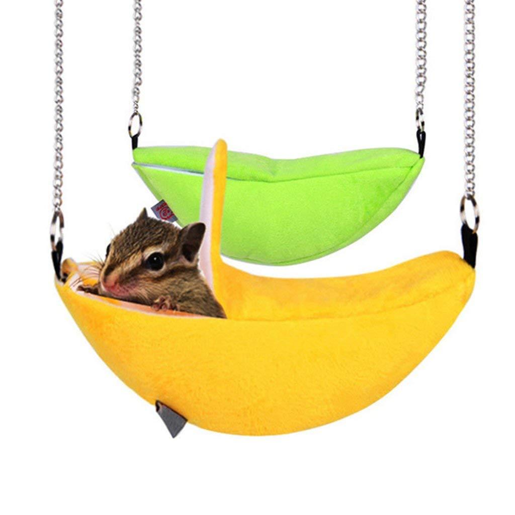 Ogquaton hamster columpio cama, ardilla chinchilla plátano estilo ...