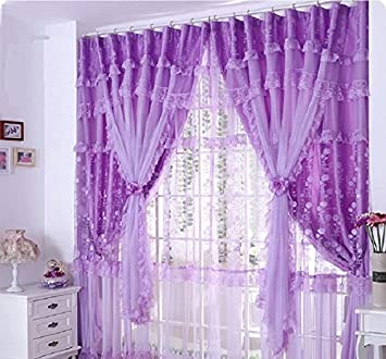 goodgram voile window luxurious by high ultra treatments curtain thread pocket rod sets c curtains kp pack purple sheer