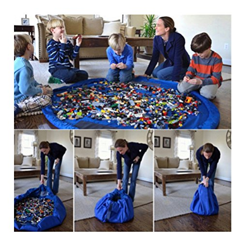 Kids Portable Play Mat Toys Storage Bag Organizer Rug Box for Lego Doll