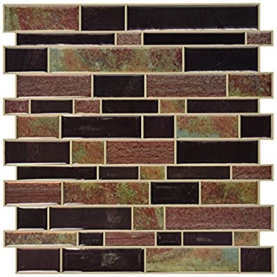 "RoomMates Modern Long Stone StickTILES, 4-pack 10.5"" X 10.5"" from York Wallcoverings - Wall Decals"