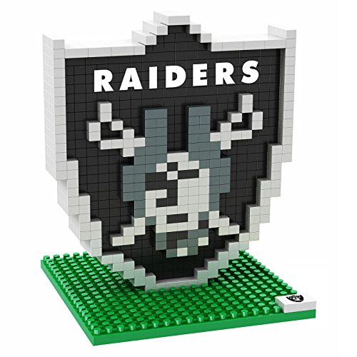 NFL Official Brxlz Oakland Raiders Team Logo - New Sealed - 3D Construction Toy