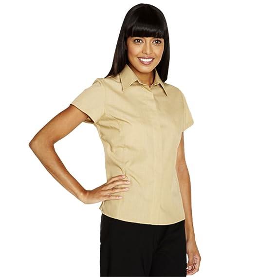 Simon Jersey - Camisas - Básico - Clásico - Manga corta - para mujer beige beige