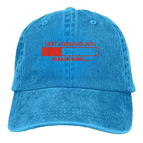DEFFWB Hat Fart Loading Denim Skull Cap Cowboy Cowgirl Sport Hats for Men Women
