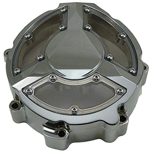 - 13-17 KAWASAKI ZX1400ABS: Yana Shiki Billet Stator Cover With Window (Style 1) (Chrome)