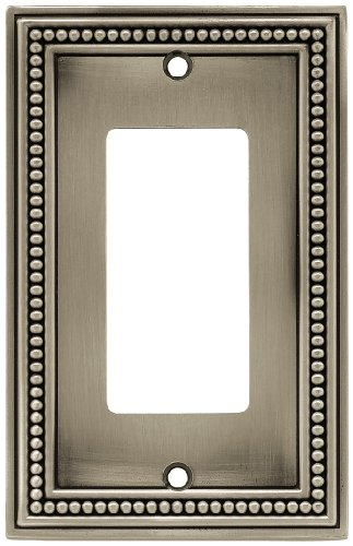 Brainerd 64778 Single Decorator Beaded Collection Wall Plate, Brushed Satin Pewter