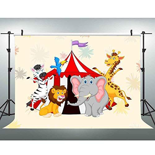 VVM 10x7ft Carnival Backdrop Circus Lion Elephant Giraffe Kids Themed Party Decoration Customized Studio Props LXVV480 -