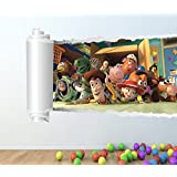 TOY STORY FULL COLOUR WALL STICKER - GIRLS BOYS DISNEY BEDROOM C133 Size: Large