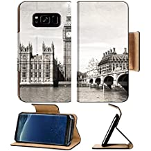 MSD Premium Samsung Galaxy S8 Flip Pu Leather Wallet Case Old London black and white vintage photo IMAGE 24495689