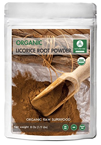 Naturevibe Botanicals USDA Organic Licorice Root Powder (8 ounces) - Glycyrrhiza glabra - 100% Pure & Natural