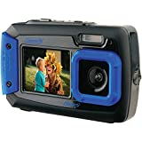 underwater camera coleman - Coleman Duo2 2V9WP-BL 20 MP Waterproof Digital Camera with Dual LCD Screen (Blue)