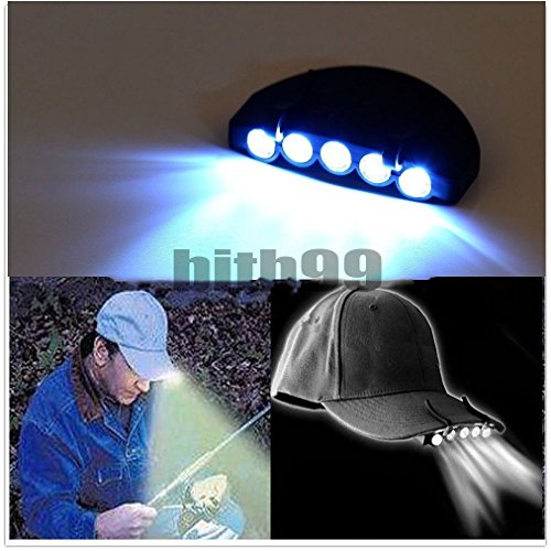 Bike Bicycle 5 LED Cap Light Hat Light by Generic