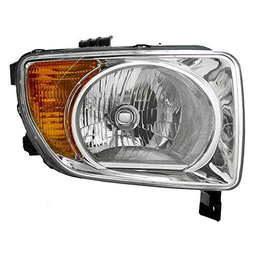 Passengers Halogen Headlight Combination Headlamp with Chrome Bezel Replacement for 2003-2008 Honda Element EX LX 33101SCVA01 AutoAndArt