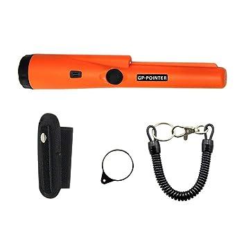 SaraHew74 Detector de Metales portátil con Puntero a Prueba de Agua, Puntero, Impermeable, Puntero, Impermeable, con luz led, detección de 360 °: Amazon.es: ...