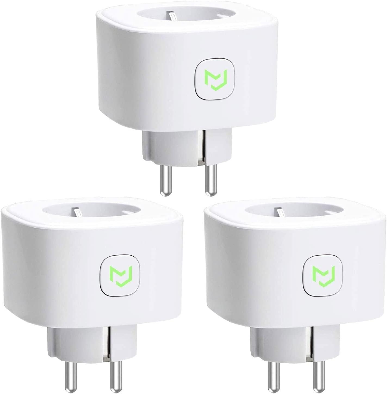 Pack de 3 enchufes inteligentes Meross compatibles con Alexa, Google Assistant y SmartThings por 16,90€ usando el #código: N6MDAIEY