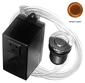 Westbrass Single Outlet Garbage Disposal Air Switch Button Fits Insinkerator