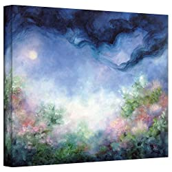 Art Wall Angel Moon Garden Gallery Wrapped Canvas Art By Marina Petro, 24 By 32-inch