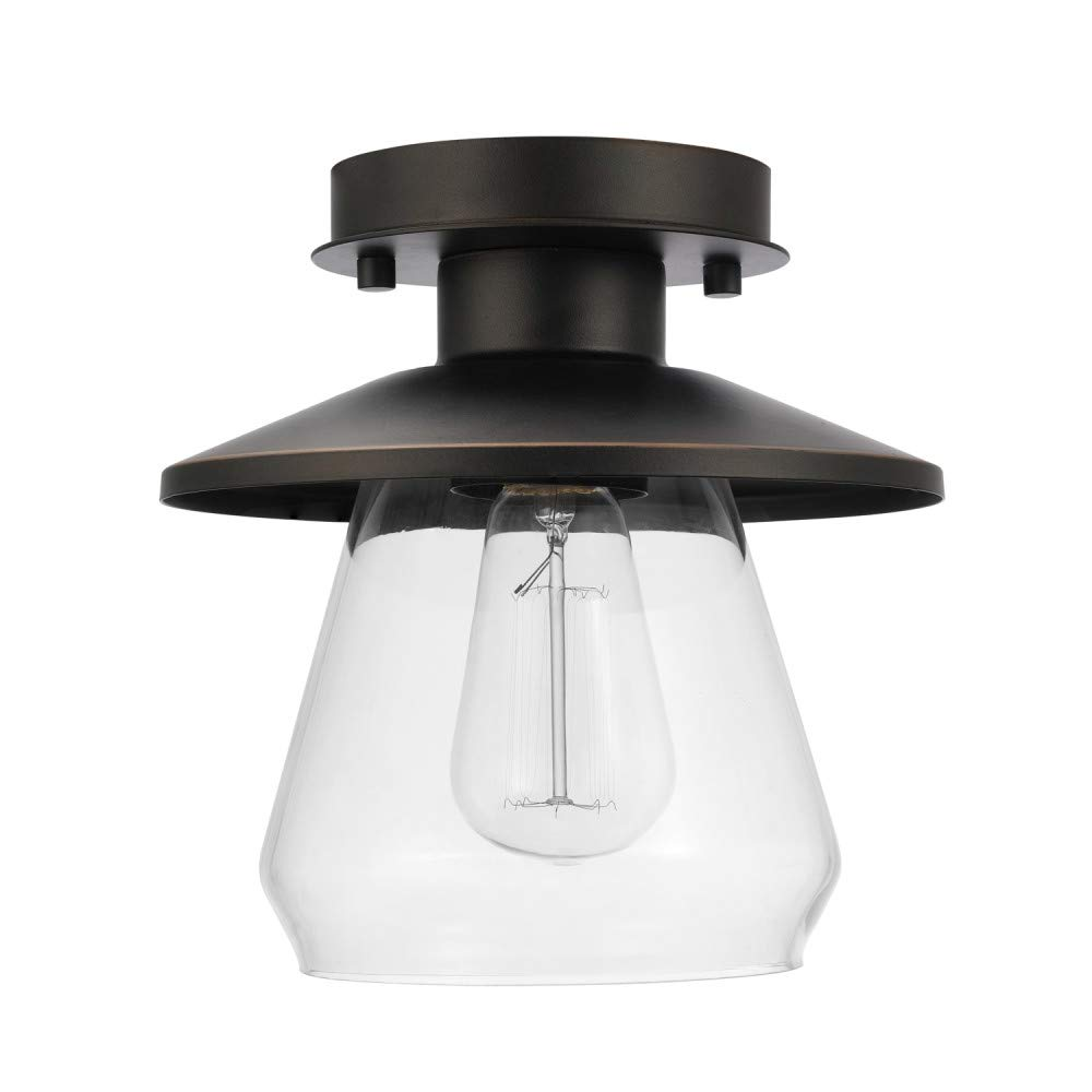 Globe Electric 64846 Flush Mount 1 Light Oil Rubbed Bronze by Globe Electric (Image #1)