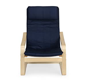 @home by Nilkamal Occasional Chair (Glossy Finish, Blue)