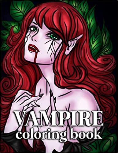 Vampire Coloring Book for Adults: 30 Large Coloring Pages ...