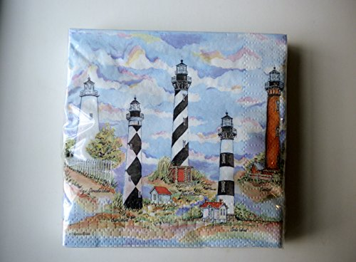 Carolina Lighthouses Cocktail Napkins Set of Two