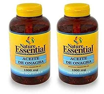 Aceite De Onagra 100 perlas de 1000 mg de Nature Essential . (Pack 2u.
