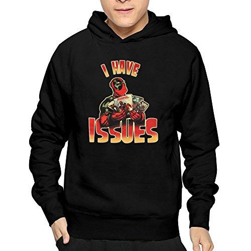 B&LAN Men's Deadpool I Have Issues Ryan Reynolds X Men Hoodies Sweatshirt Black