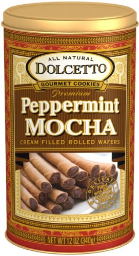 (Dolcetto Wafer Rolls, Peppermint Mocha, 12 Ounce)