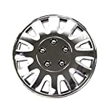 chrysler sebring chrome hubcaps - TuningPros WSC-738C15 Chrome Hubcaps Wheel Skin Cover 15-Inches Silver Set of 4