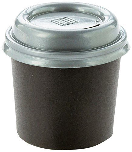 Coffee Cup Lids - Pewter Gray - Plastic - Disposable - Fits 4 oz Coffee Cups -  500ct Box - Restaurantware (Renewed) ()