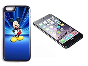 iPhone 6 Plus Black Plastic Hard Case with High Gloss Printed Insert Micky Mouse
