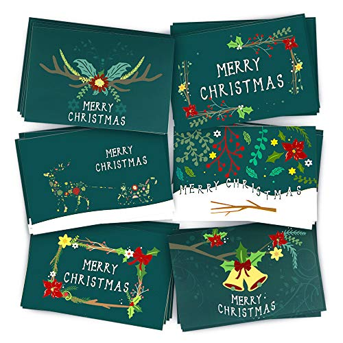 Christmas Cards Greeting Cards, Pop Up Cards, 3D Greeting Card (Green)