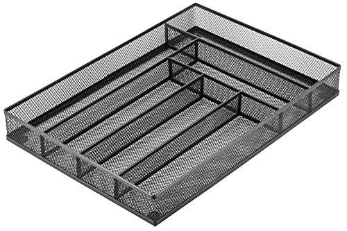 Halter Steel Mesh Large Silverware Cutlery Tray Organizer with No-Slip Foam Feet - Kitchen Organization / Silverware Storage - 16'' X 11.25'' X 2'' - 2 Pack by Halter (Image #2)